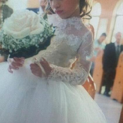 Princess Lace Flower Girls Dresses ..