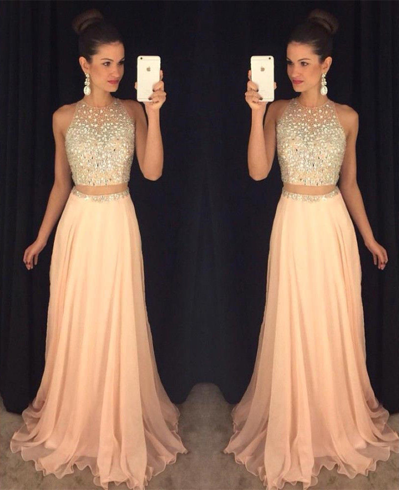 102c36b651c Two Pieces Long Prom Dresses
