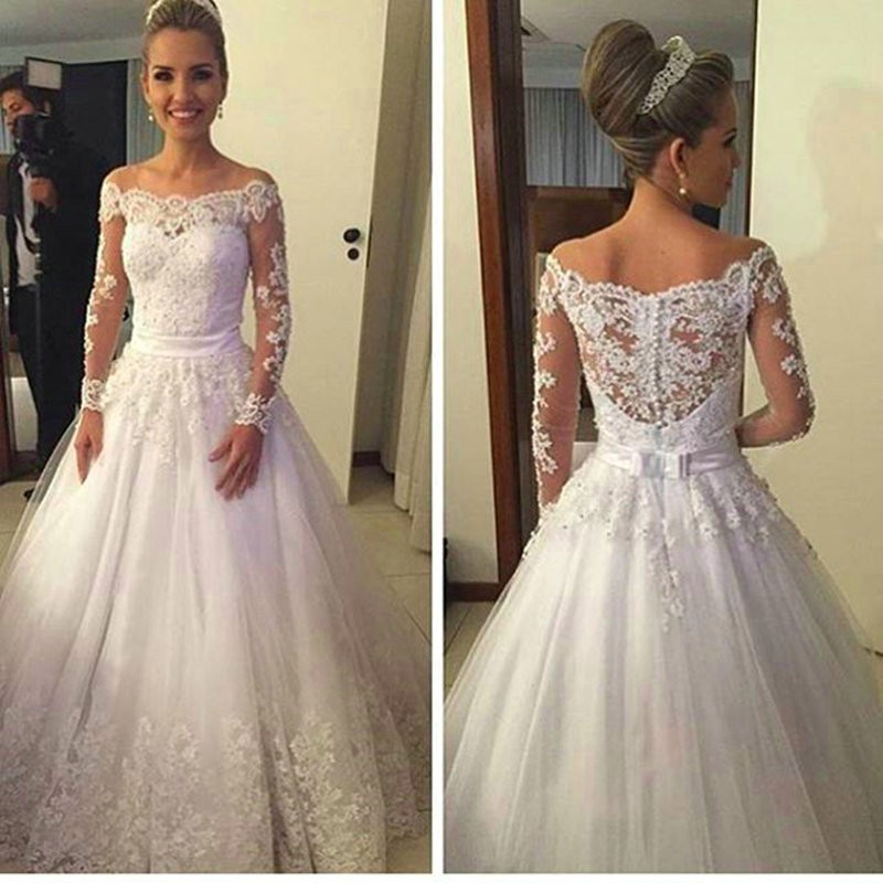 35c3f6c2580 2017 Fashion Off The Shoulder Wedding Dress