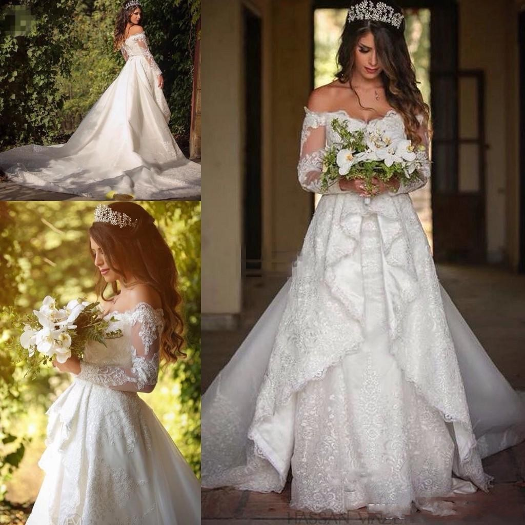 Romantic Off The Shoulder Wedding Dresses, Vintage Lace