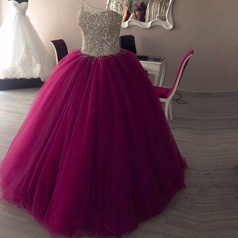 Elegant Purple Quinceanera Dresses For 15 Year Ball Gown Cheap ...