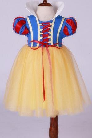 Free Shipping Christmas Children Princess Dresses Cheap Girls Cosplay ClothesTulle Costumes Dress